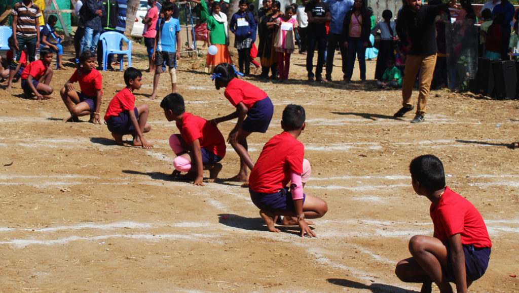 Sparsha children in annual sports competition in Bangalore playground