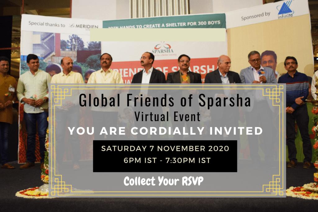 sparsha ngo organizes global friends of Sparsha virtual event 2020